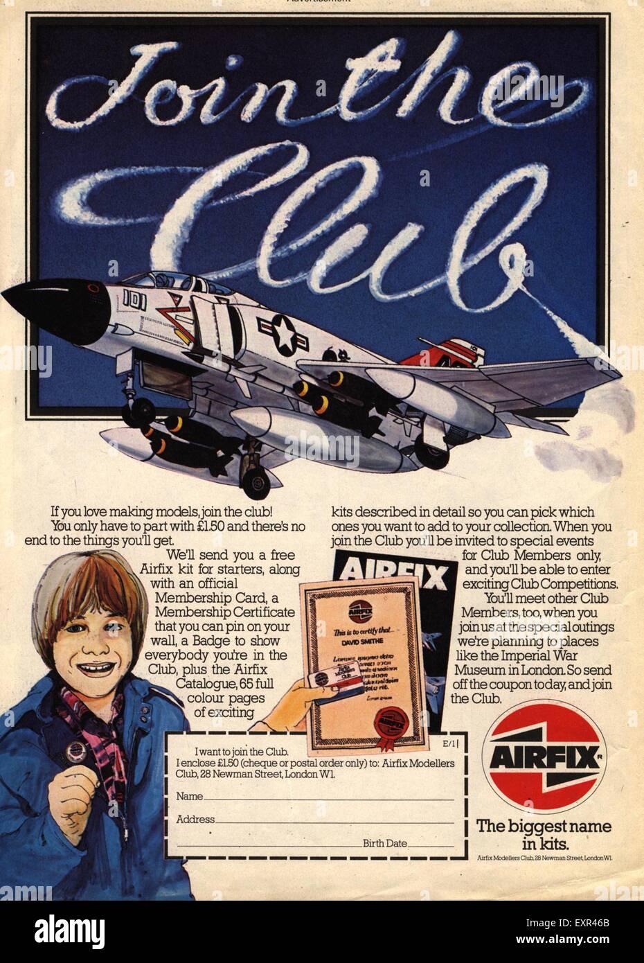 1970s UK Airfix Magazine Advert - Stock Image