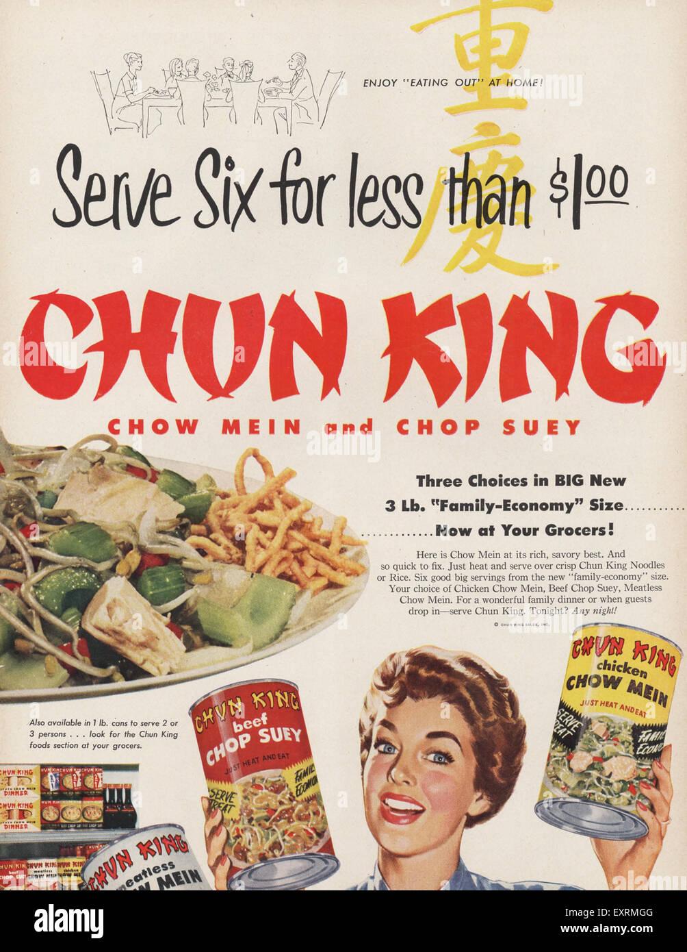 Chun King Magazine Advert - Stock Image