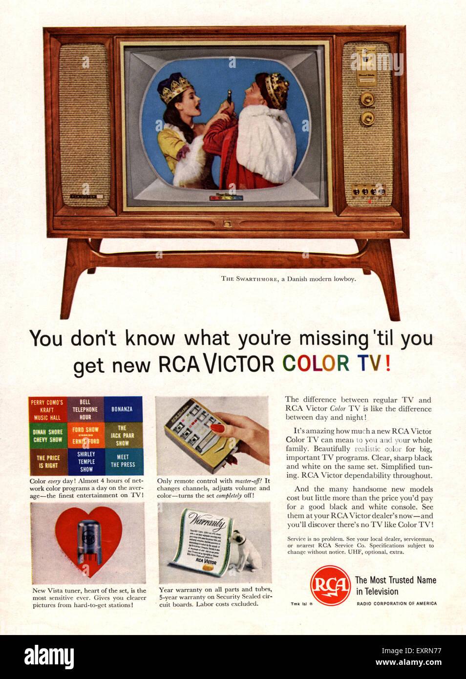 1960s USA Rca Magazine Advert Stock Photo