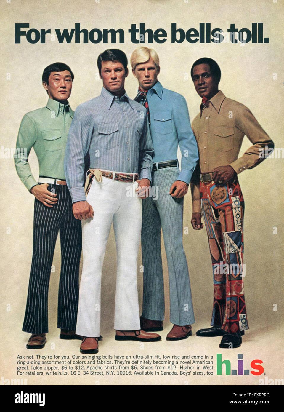 1960s USA his Magazine Advert - Stock Image