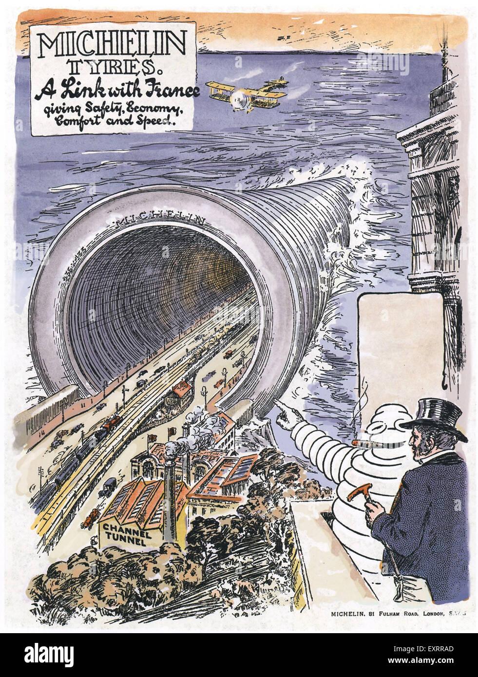 UK Michelin Magazine Advert - Stock Image