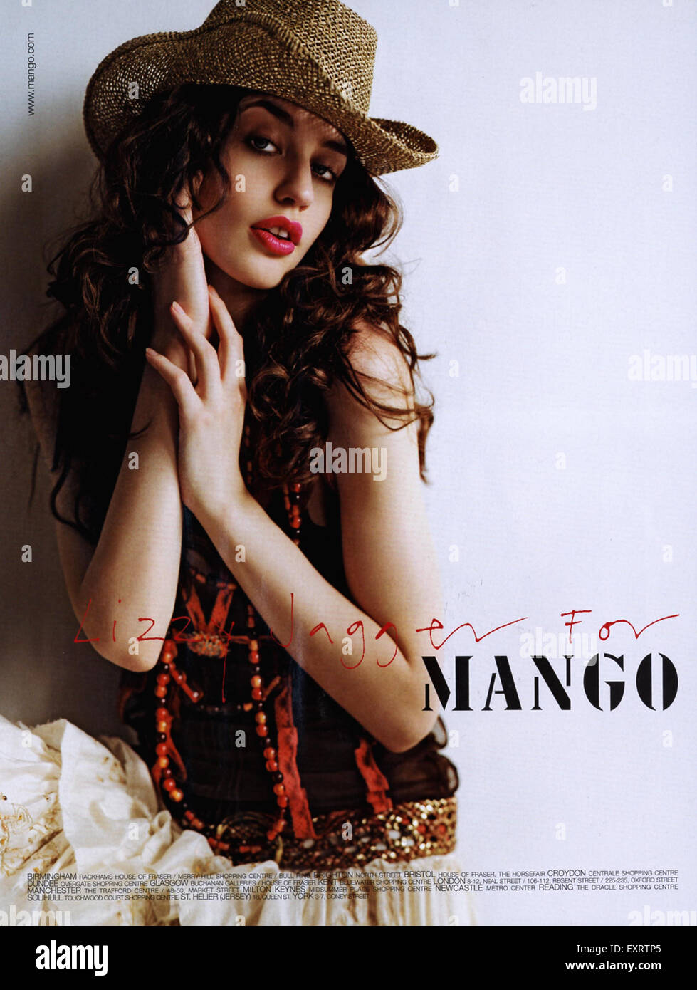 Mango Magazine Advert - Stock Image