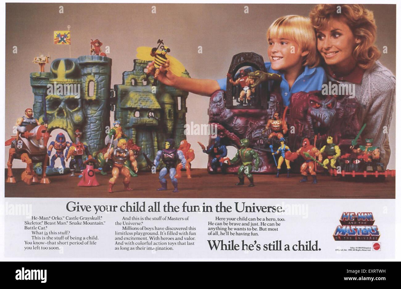 1980s USA He Man Magazine Advert - Stock Image