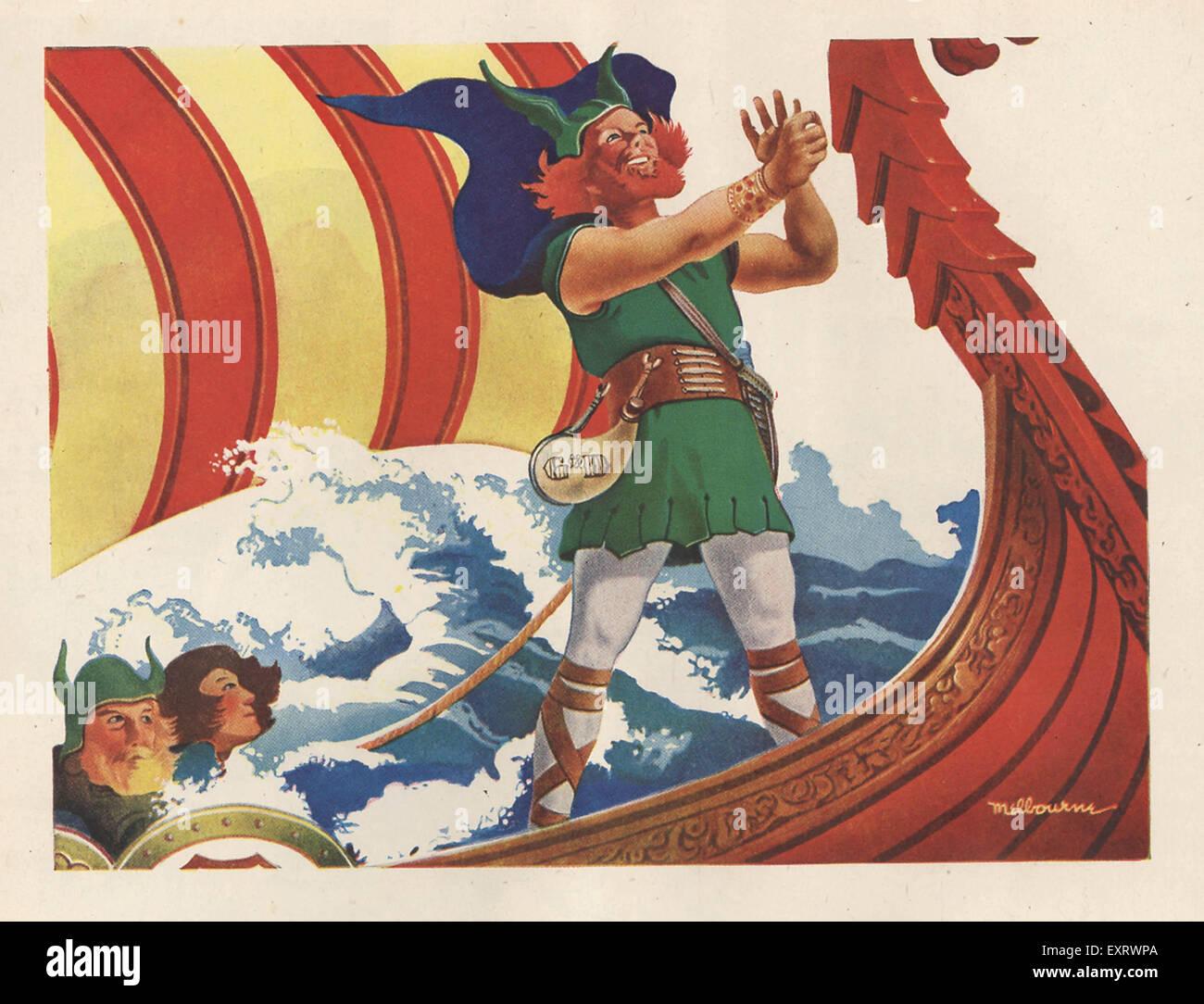 1940s USA Vikings Magazine Advert - Stock Image