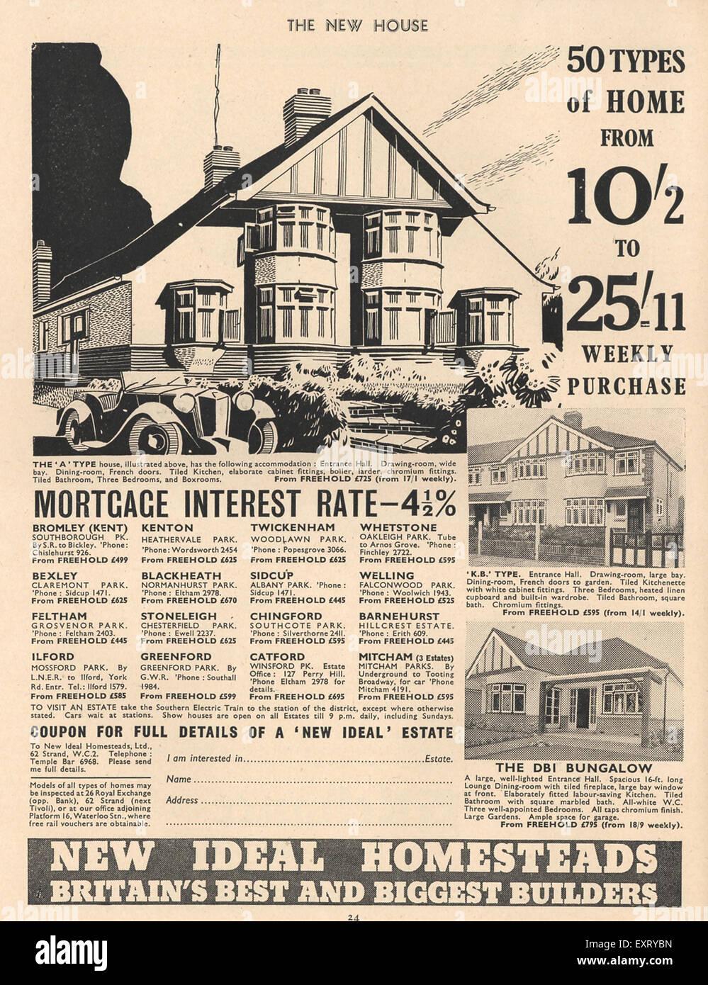 1930s uk new homes magazine advert - New Home Magazines