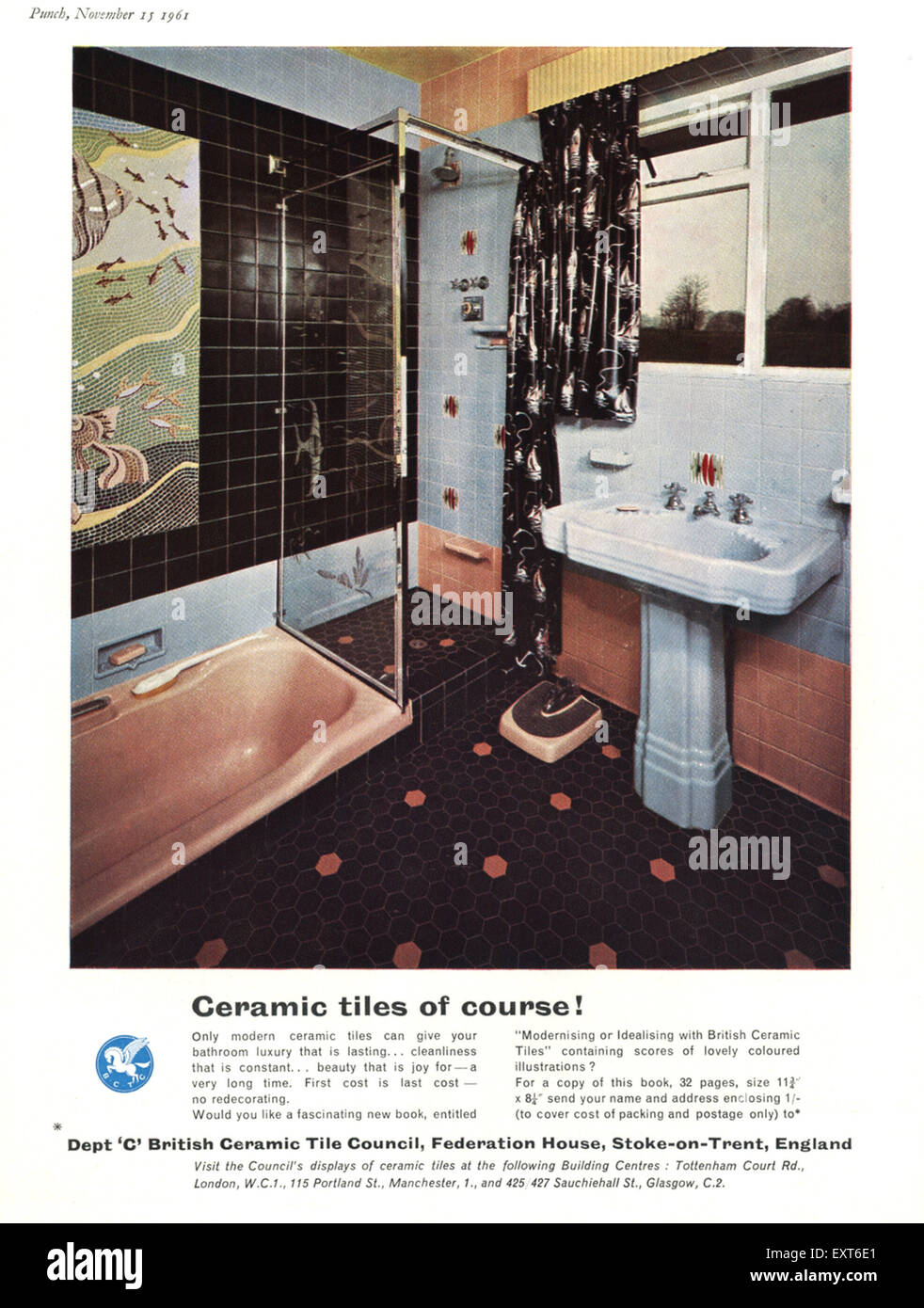 1960s uk british ceramic tile council magazine advert stock photo 1960s uk british ceramic tile council magazine advert dailygadgetfo Images