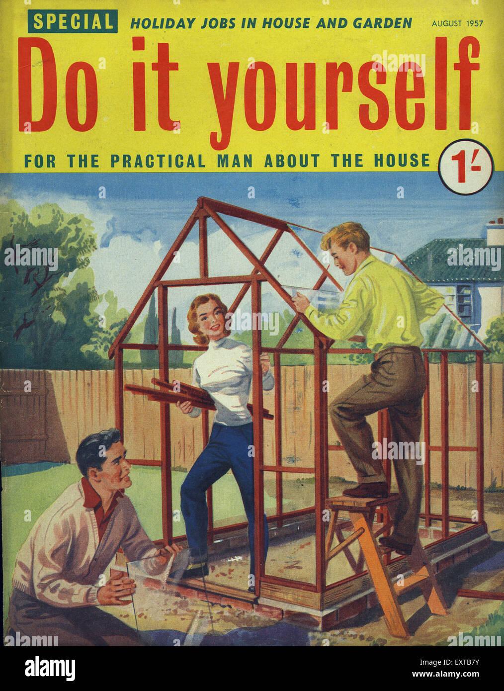 1950s uk woman magazine cover stock photos 1950s uk woman magazine 1950s uk do it yourself magazine cover stock image solutioingenieria Image collections