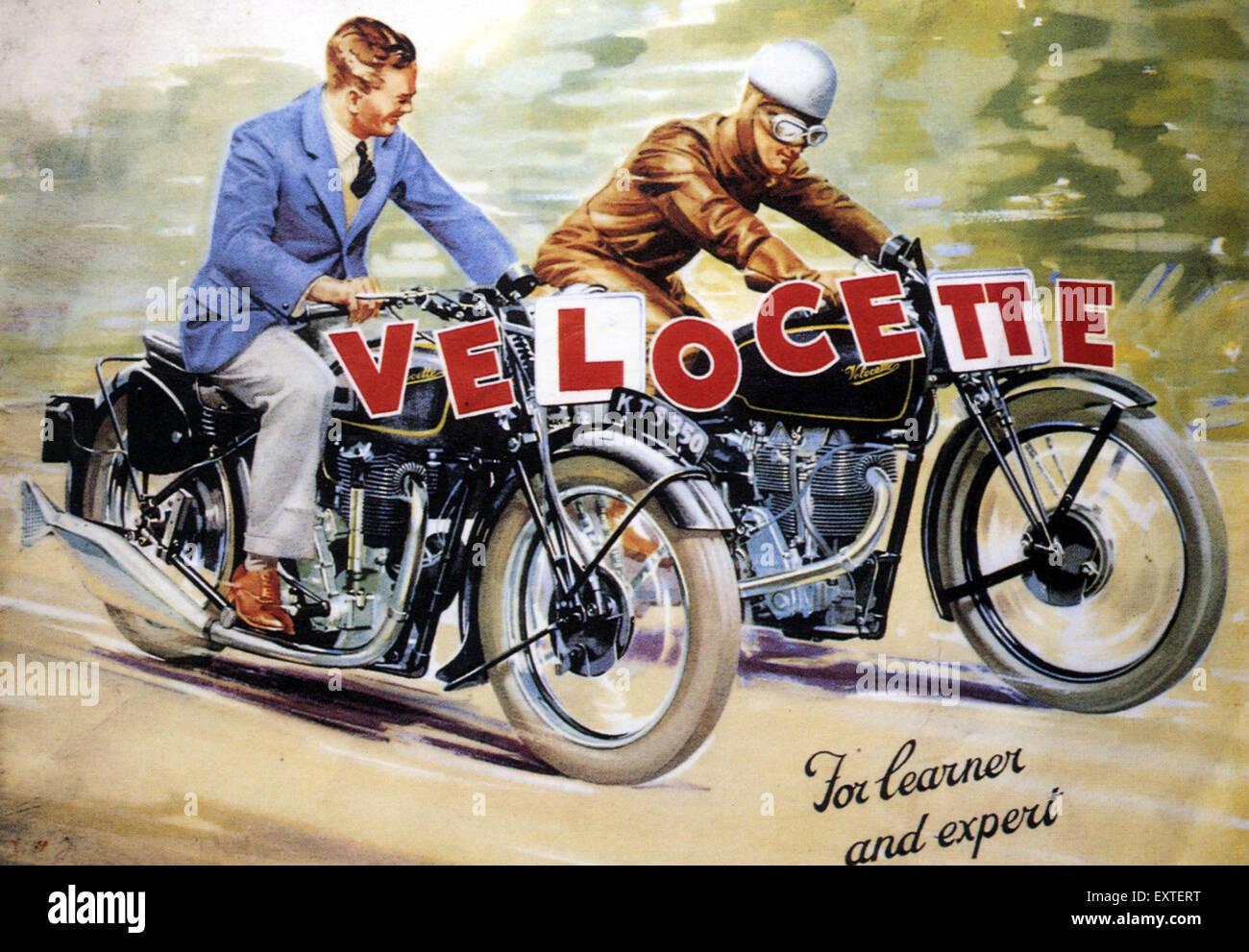 UK Velocette Magazine Advert - Stock Image