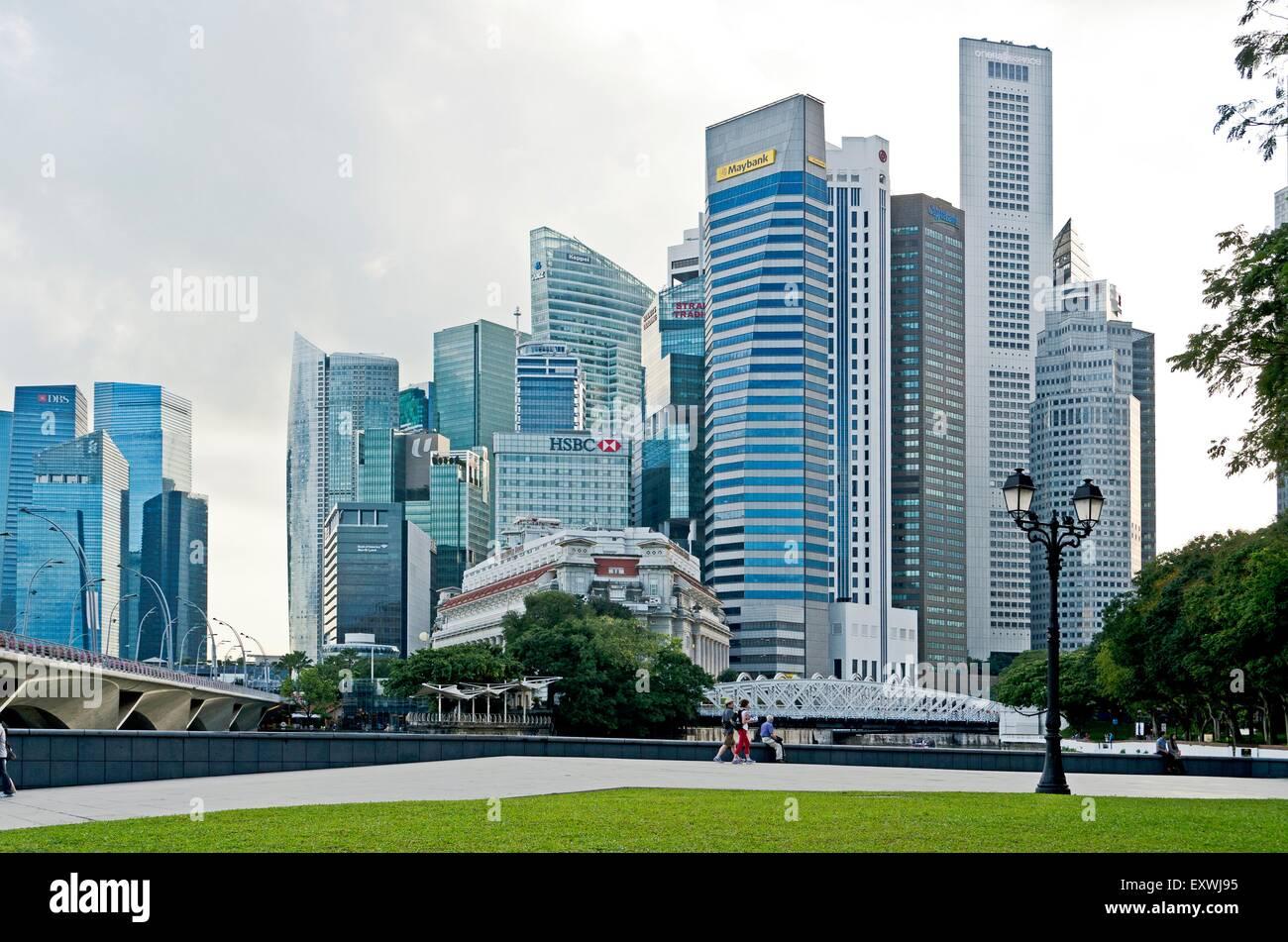 Skyline, Singapur City, Singapur, Asia - Stock Image