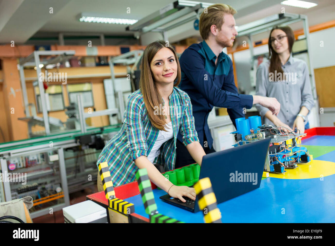Young People In The Robotics Classroom Stock Photo 85451725 Alamy