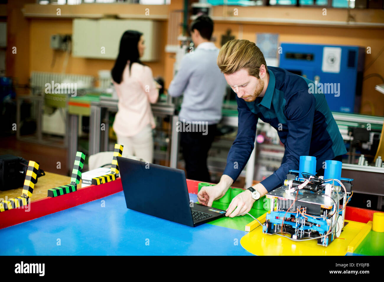Young People In The Robotics Classroom Stock Photo 85451727 Alamy