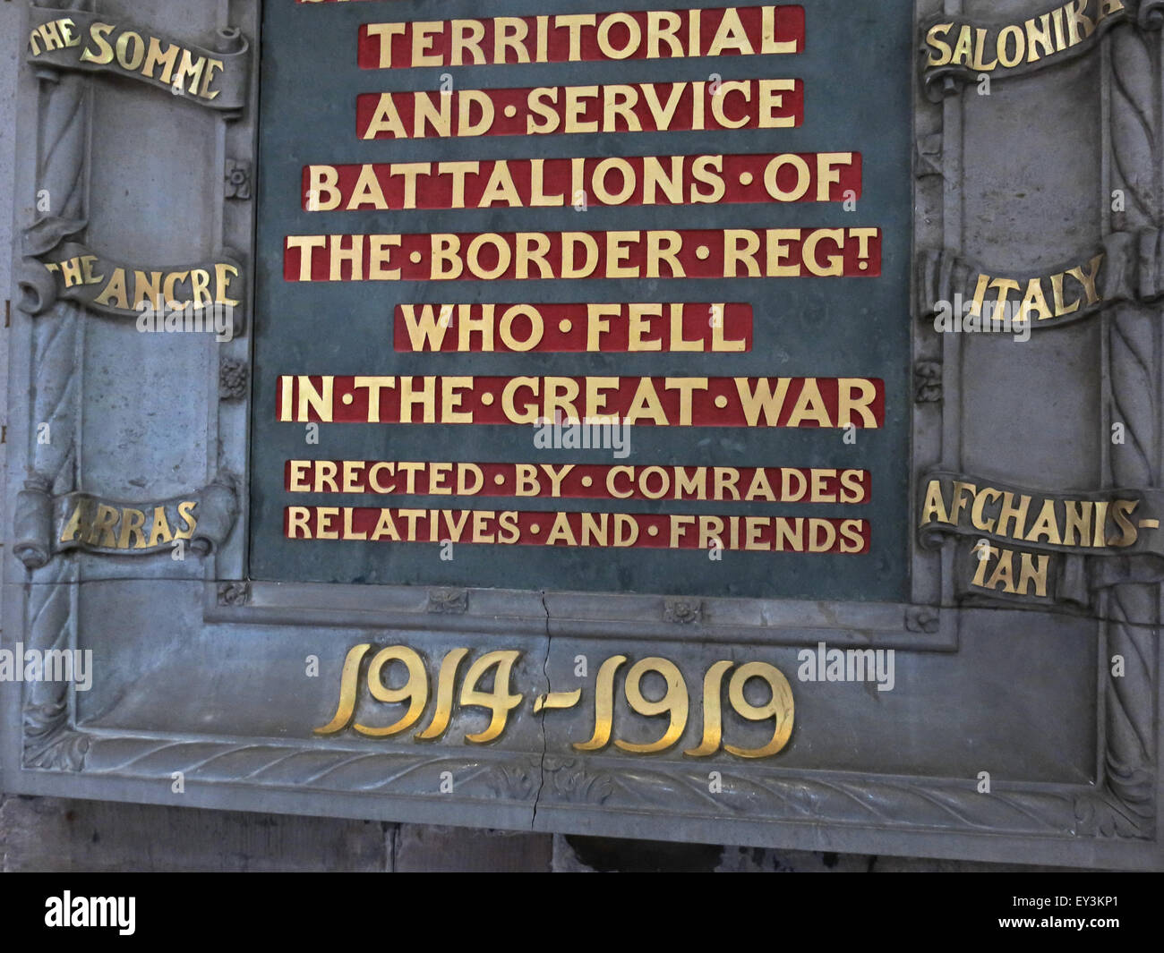 Cumbria,England,UK,Territorial and service battalions of the Border Regt who fell,in the great war,Erected by Comrades,GoTonySmith,Buy Pictures of,Buy Images Of