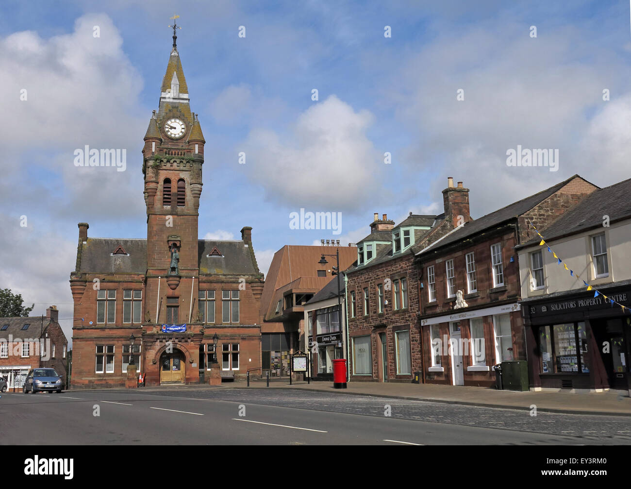 Annan town hall,Annan,Dumfries & Galloway - Municipal buildings,Council,Offices,High,Street,Annan,DG12 6AQ,stone,historic,history,Victorian,royal,burgh,in,south-west,Scotland,sandstone,Dumfries and Galloway,GoTonySmith,Buy Pictures of,Buy Images Of,Scotlands History,Scotlands History