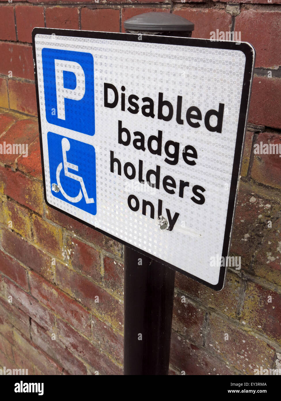 Wheelchair,misuse,England,English,GB,Great Britain,car park,parking,area,P,Disabled Badge,holders Only,sign,plate,GoTonySmith,Buy Pictures of,Buy Images Of