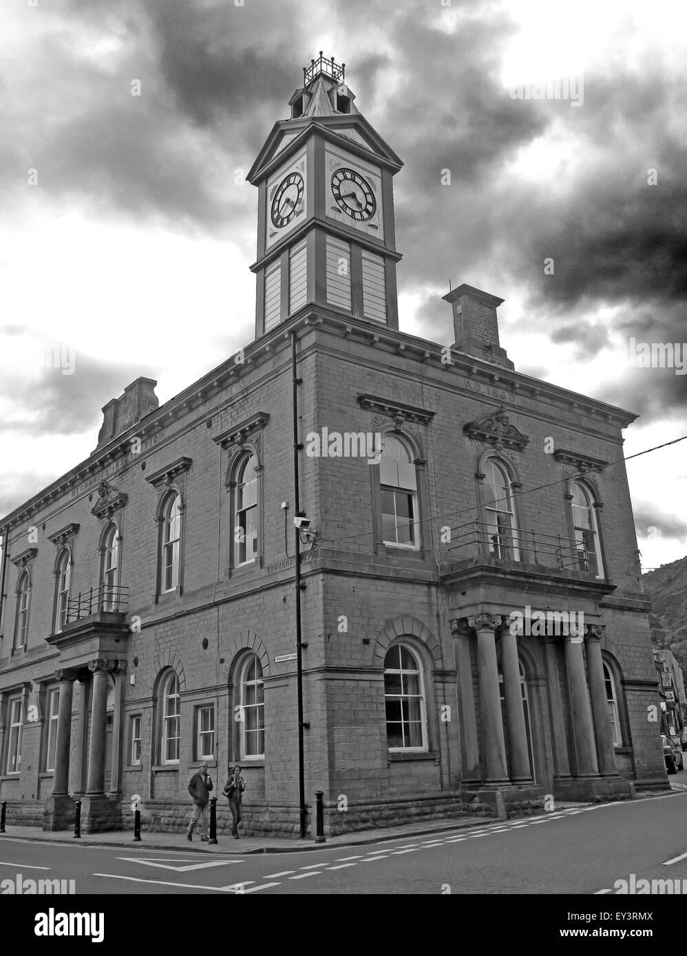 Institute,building,Kirklees,borough,Council,Aletrail,aletrain,England,UK,hall,Marsden Mechanics,West Yorkshire,GoTonySmith,Buy Pictures of,Buy Images Of