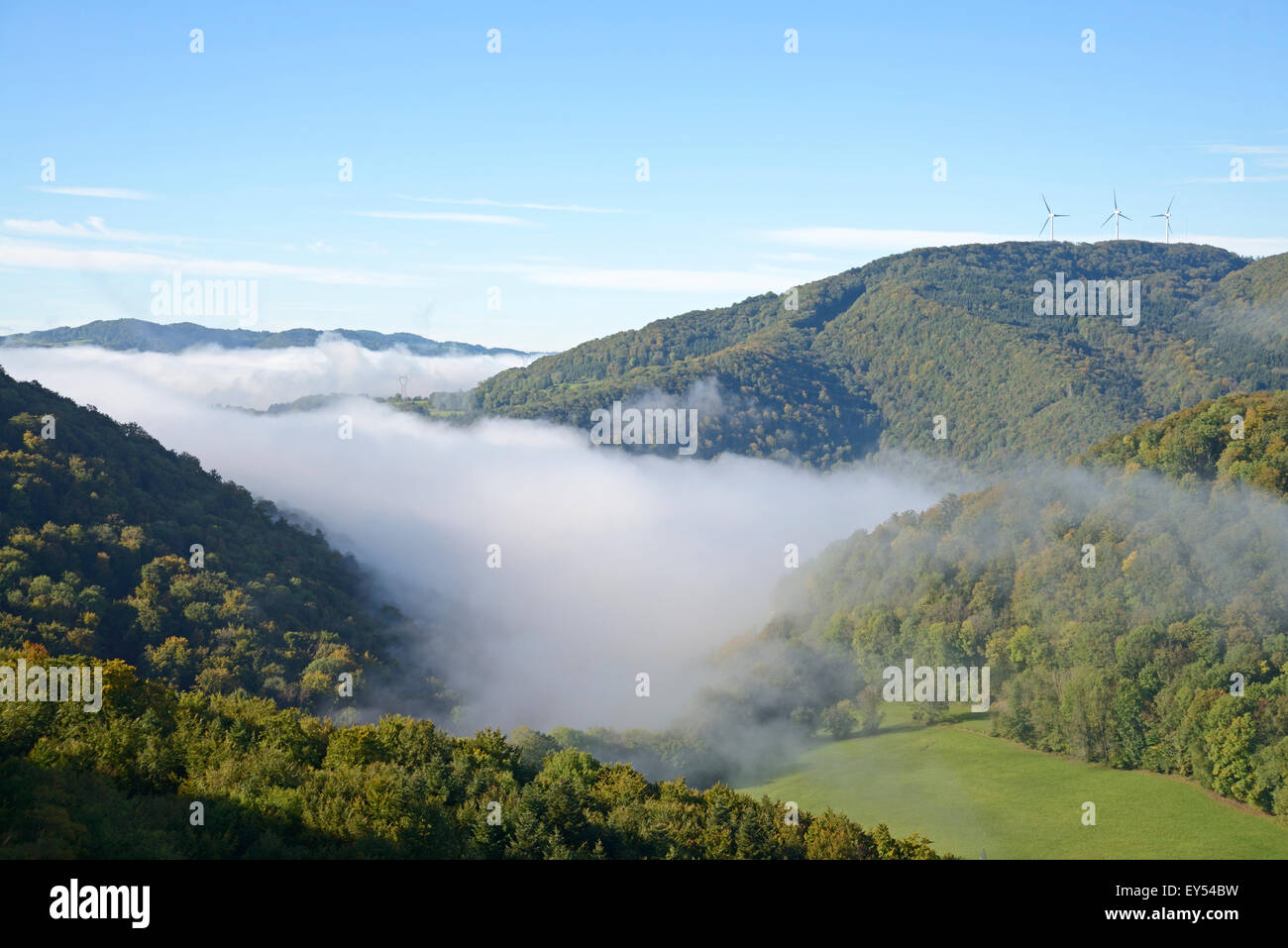 Dessoubre valley and wind - Haut Doubs France - Stock Image
