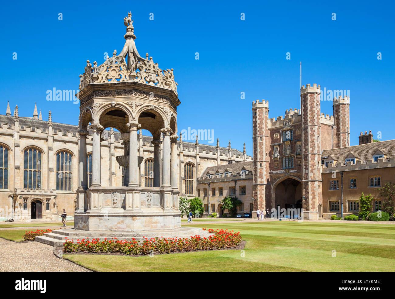 The Great Court Trinity College Cambridge University Cambridge Cambridgeshire England UK GB EU Europe Stock Photo