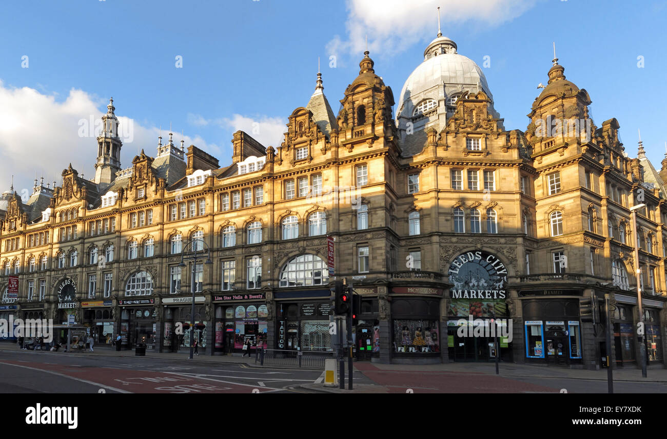 Pano,wide,shot,wideshot,West,Yorkshire,stone,tower,towering,centre,proud,Eastgate,quarters,shop,shopping,retail,LS,largest,covered,market,in,Europe,meat,fish,entrance.indoor,exterior,outside,sign,horizontal,landscape,stall,urban,cupola,roof,detail,Edwardian,Eastgate Quarters,Vicar Lane,GoTonySmith,England,UK,GB,Great Britain,United,Kingdom,stalls,creative,different,architecture,attraction,marketplace,quirky,retail,shopping,shops,stylish,tourist,traders,unique,Buy Pictures of,Buy Images Of