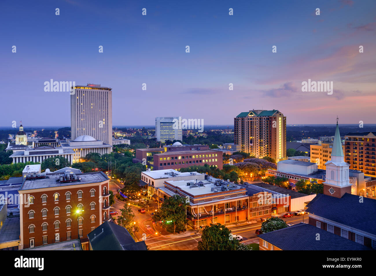 Tallahassee, Florida, USA downtown skyline. - Stock Image