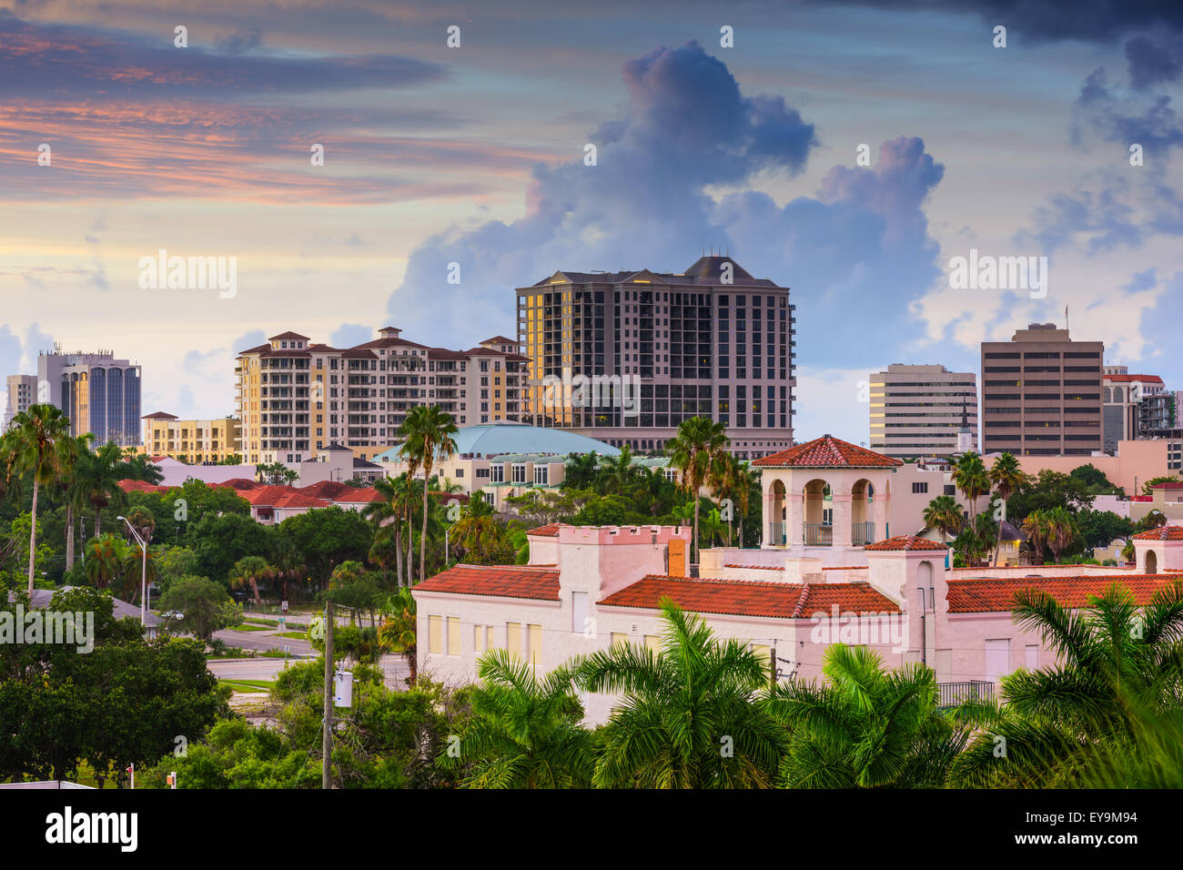 Sarasota, Florida, USA downtown skyline. - Stock Image