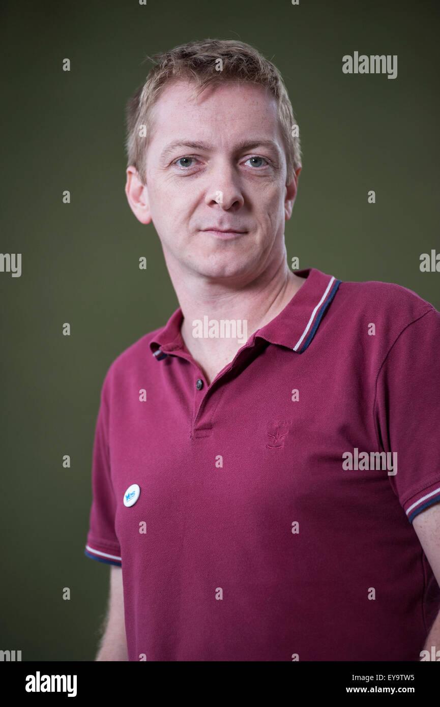 Writer, musician and journalist, Doug Johnstone, appearing at the Edinburgh International Book Festival. - Stock Image
