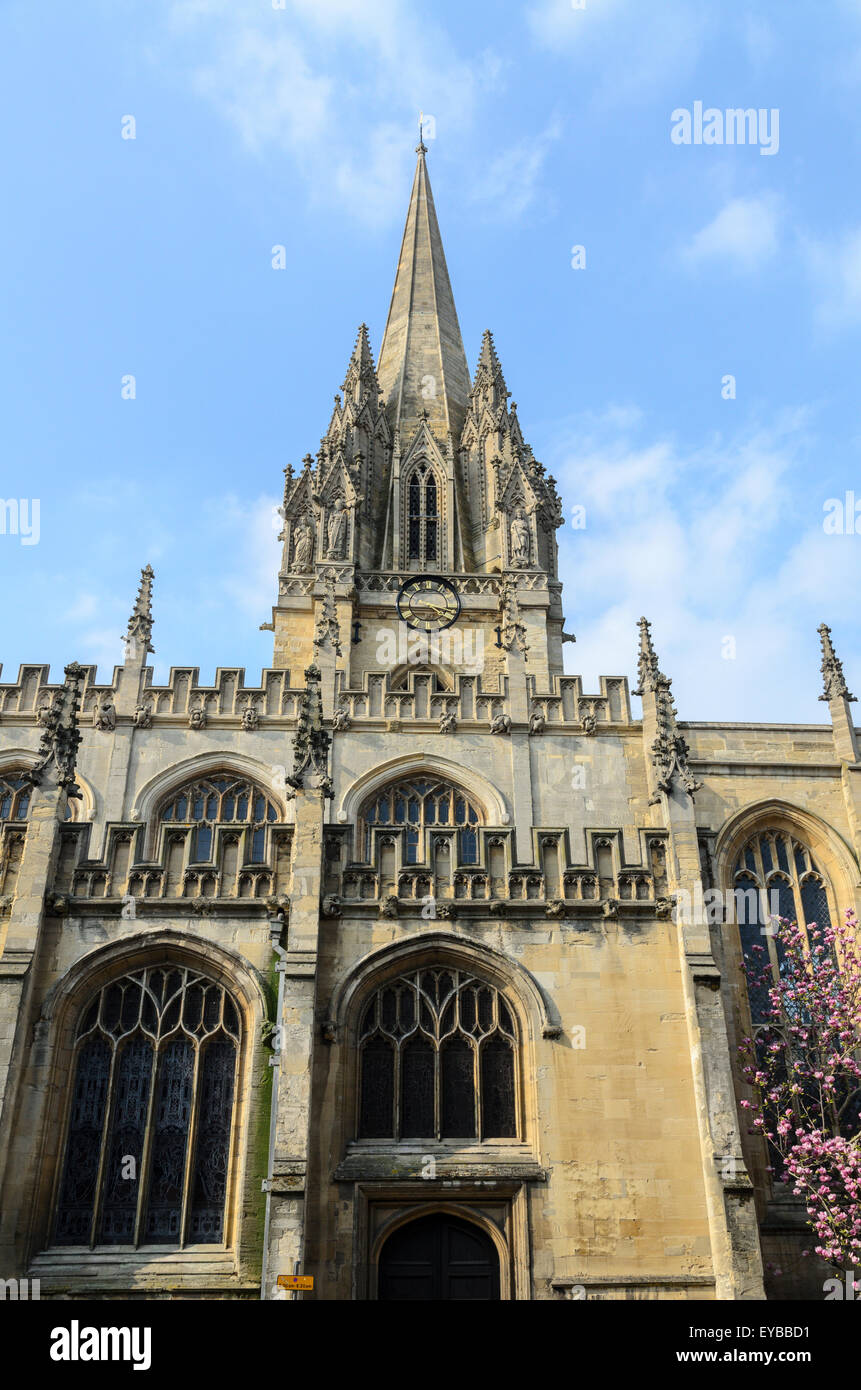 The University Church of St Mary the Virgin, High Street, Oxford, England, UK. - Stock Image