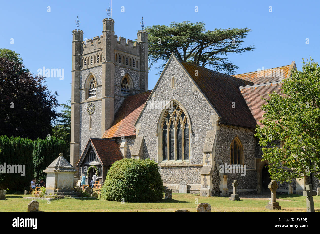St Mary the Virgin Church, Hambleden, Buckinghamshire, England, UK. - Stock Image