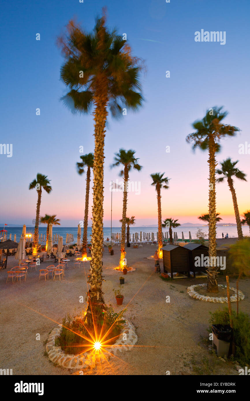 Beach in Palaio Faliro, Greece - Stock Image