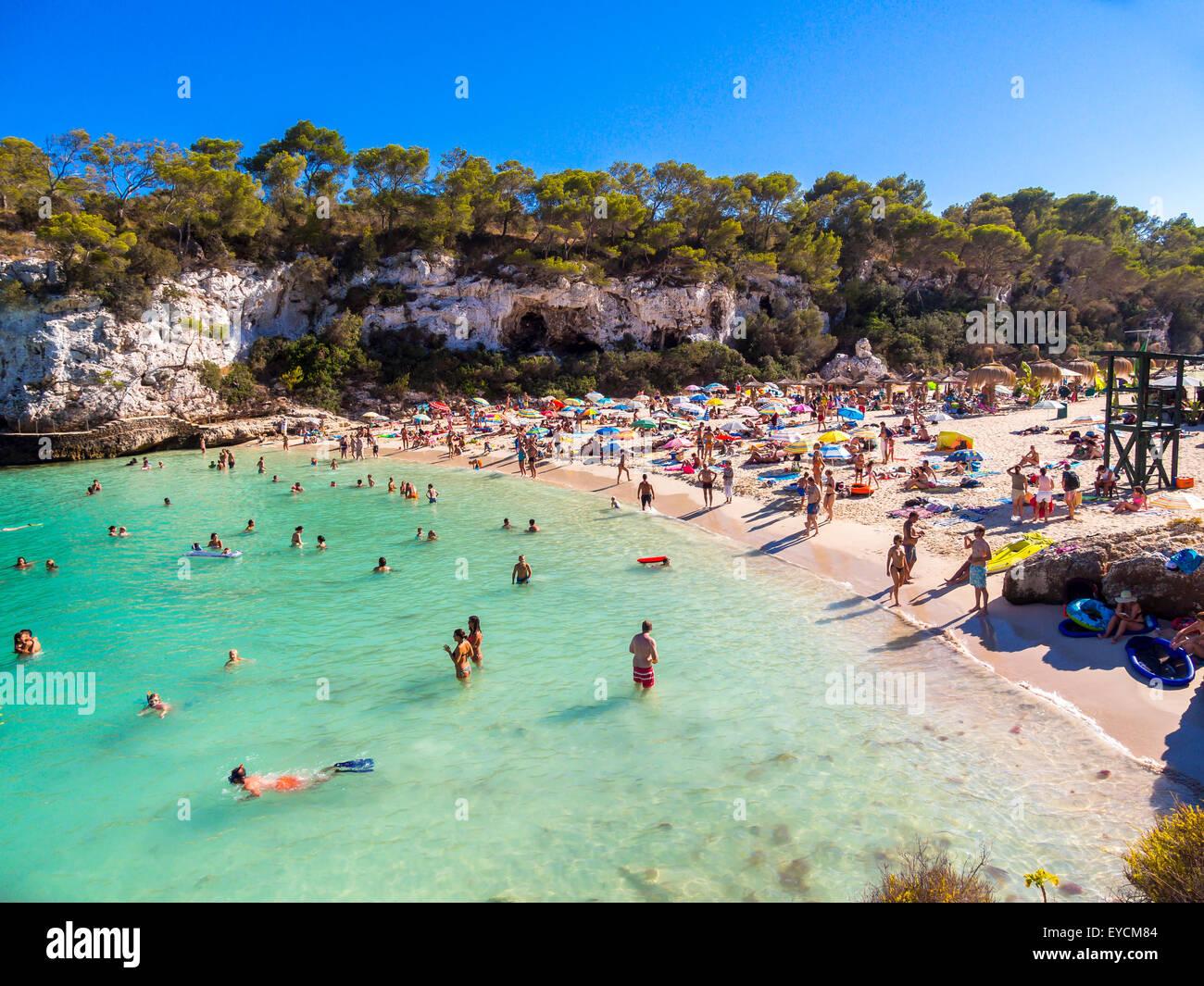 Spain, Majorca, beach of Cala Llombarts Stock Photo