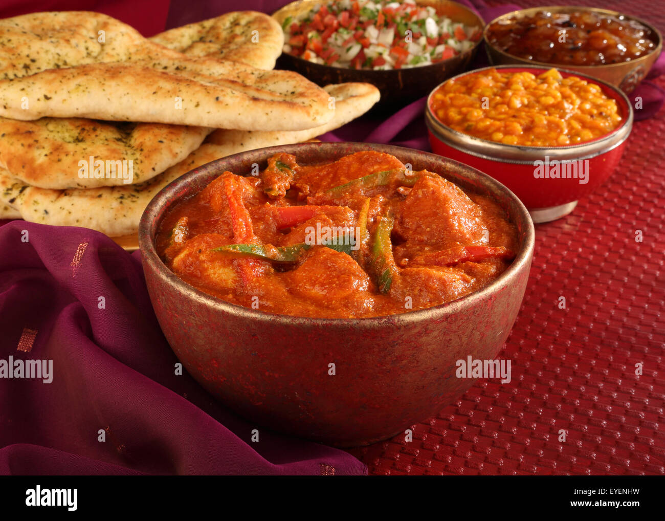 Indian chicken jalfrezi curry meal stock photo 85761477 alamy indian chicken jalfrezi curry meal forumfinder Choice Image
