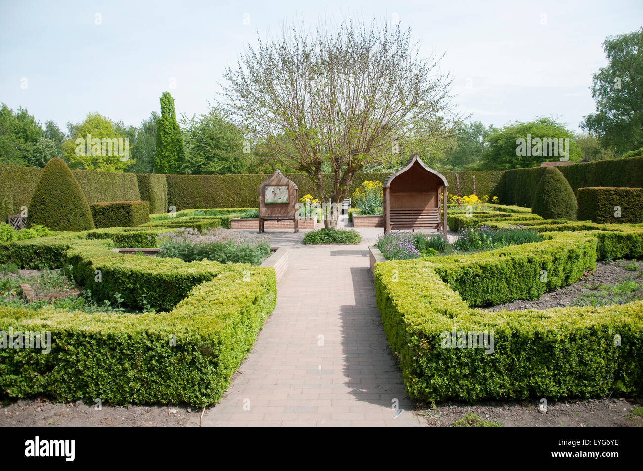 Rufford Abbey and Country Park, Nottighamshire England UK - Stock Image