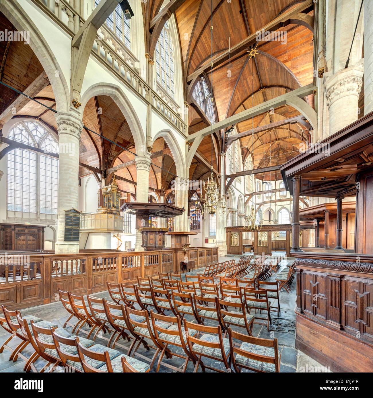 Amsterdam De Oude Kerk, The Old Church interior Stock Photo