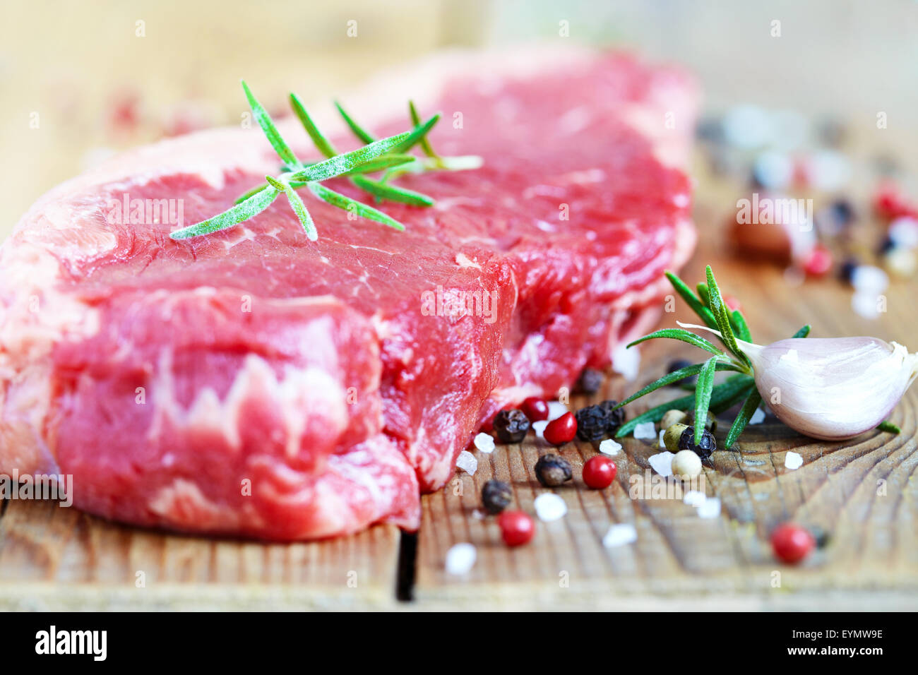Raw beef meat - Stock Image
