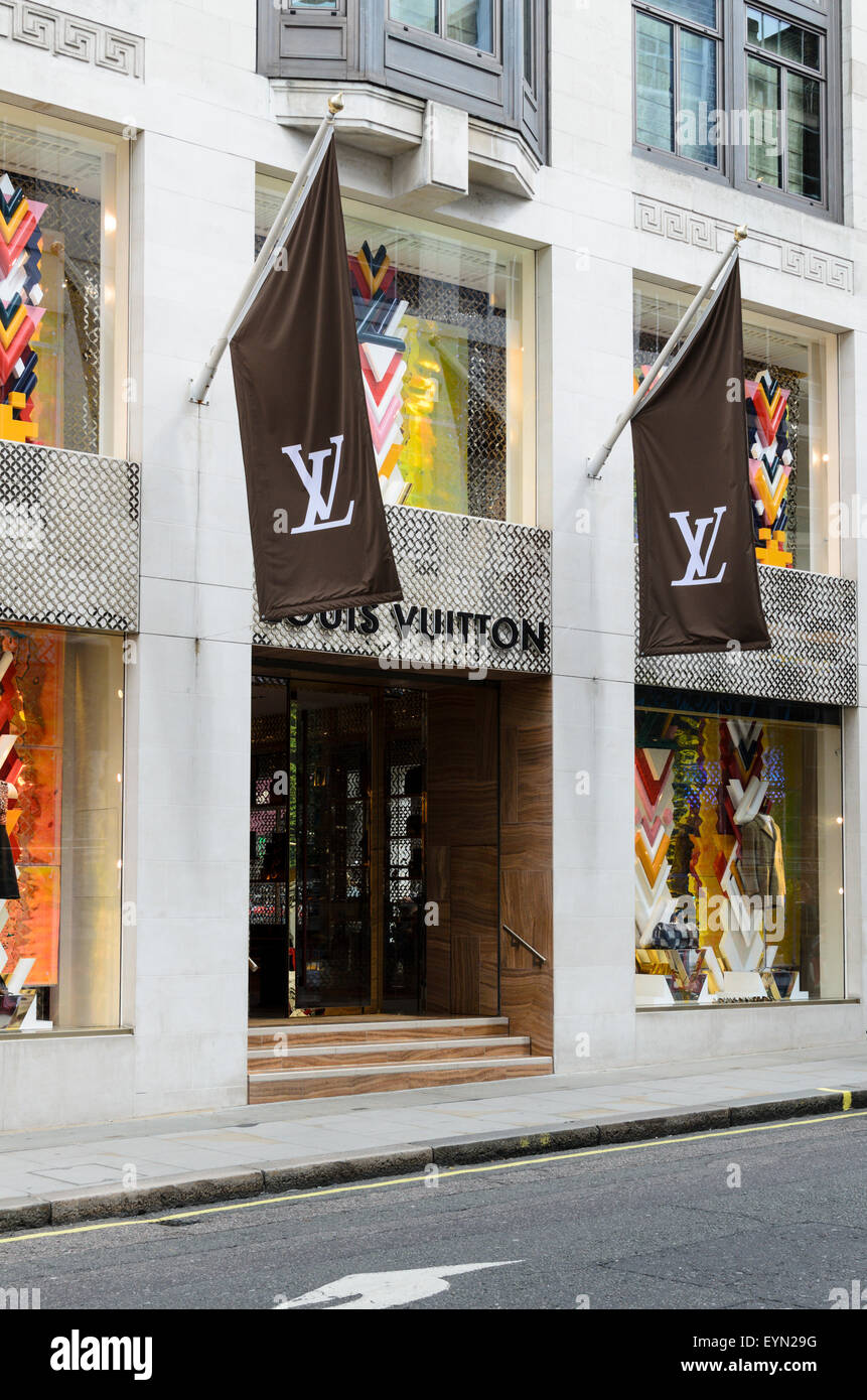 The Louis Vuitton Store, Bond Street, London, England, UK - Stock Image