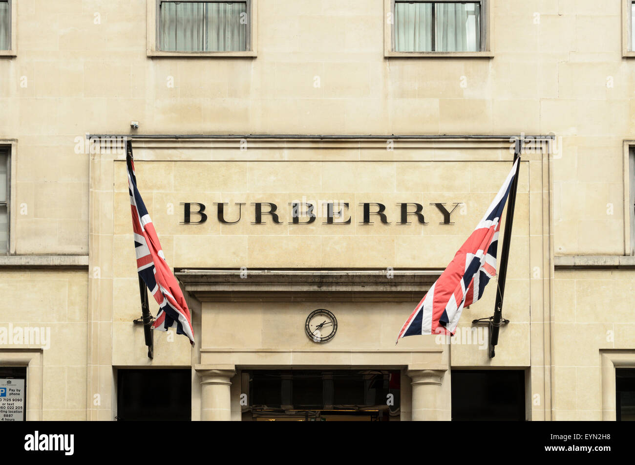 The Burberry Store, Bond Street, London, UK - Stock Image
