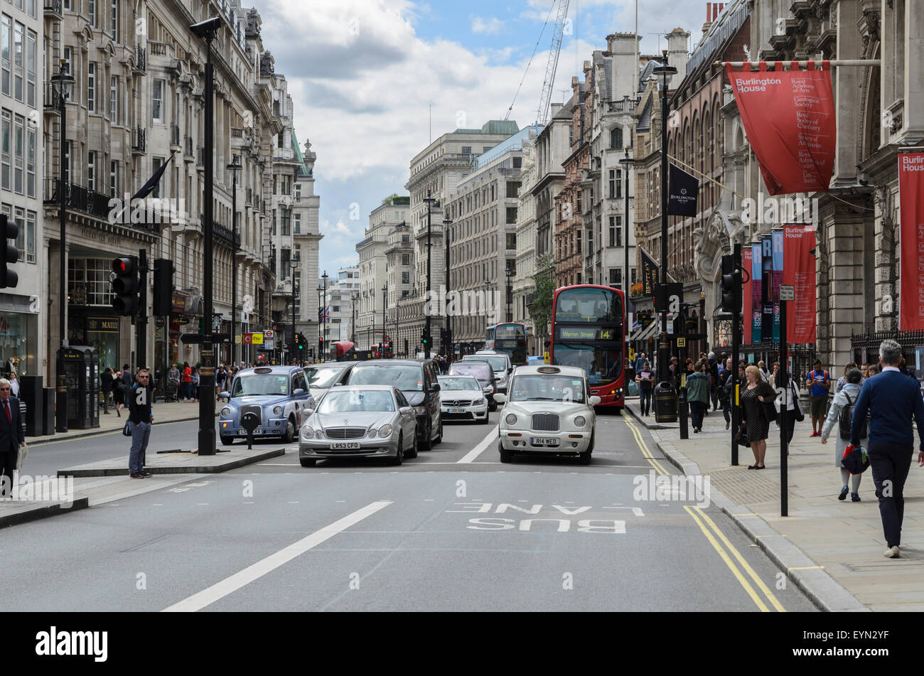 Piccadilly in Central London, England, UK - Stock Image