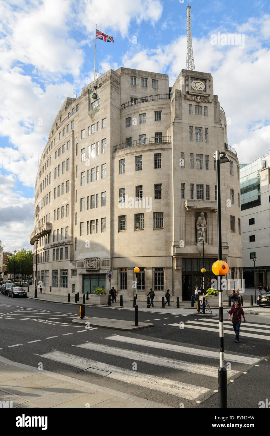 BBC Broadcasting House, Portland House, London, England, UK. - Stock Image