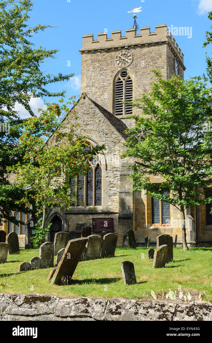 The Parish Church of St. Peter and St. Paul in Wantage, Oxfordshire,England,U.K - Stock Image