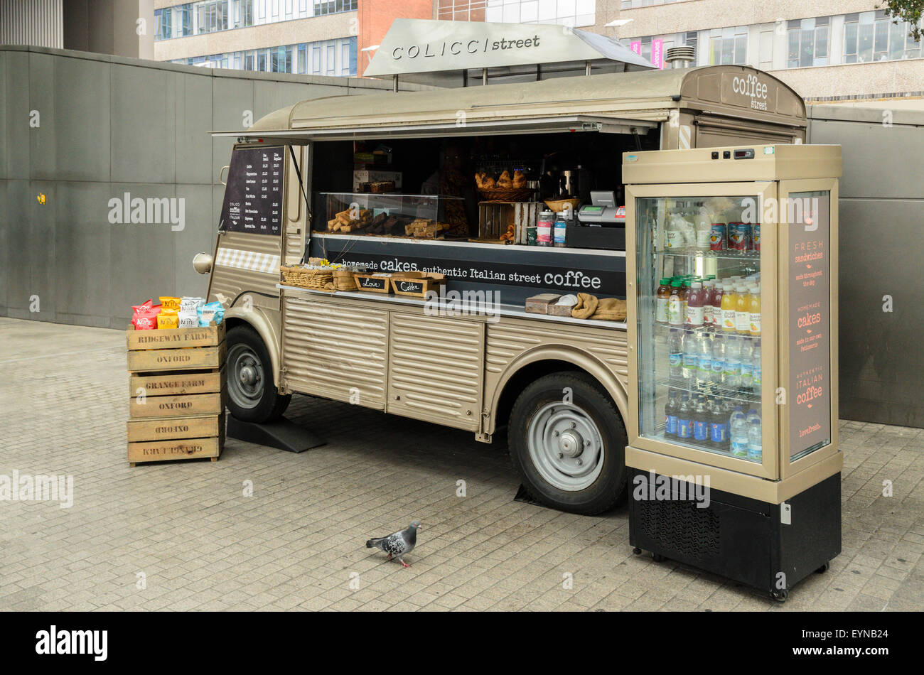 Coffee Stall at Paddington Station, London, England, UK - Stock Image