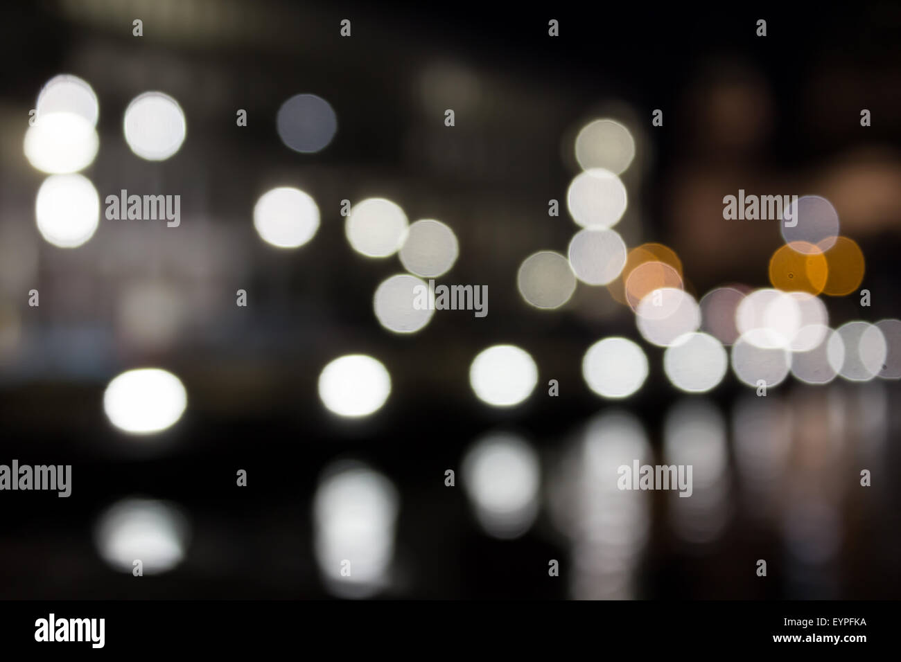 city lights at night -bokeh/ blur - Stock Image