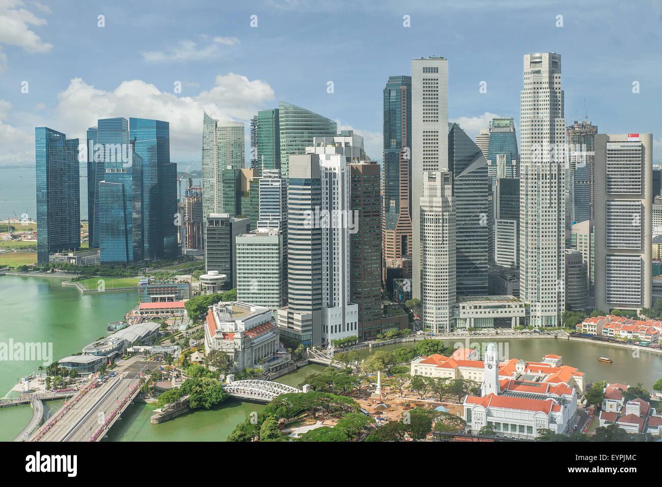 Singapore Skyline. Singapore`s business district. - Stock Image