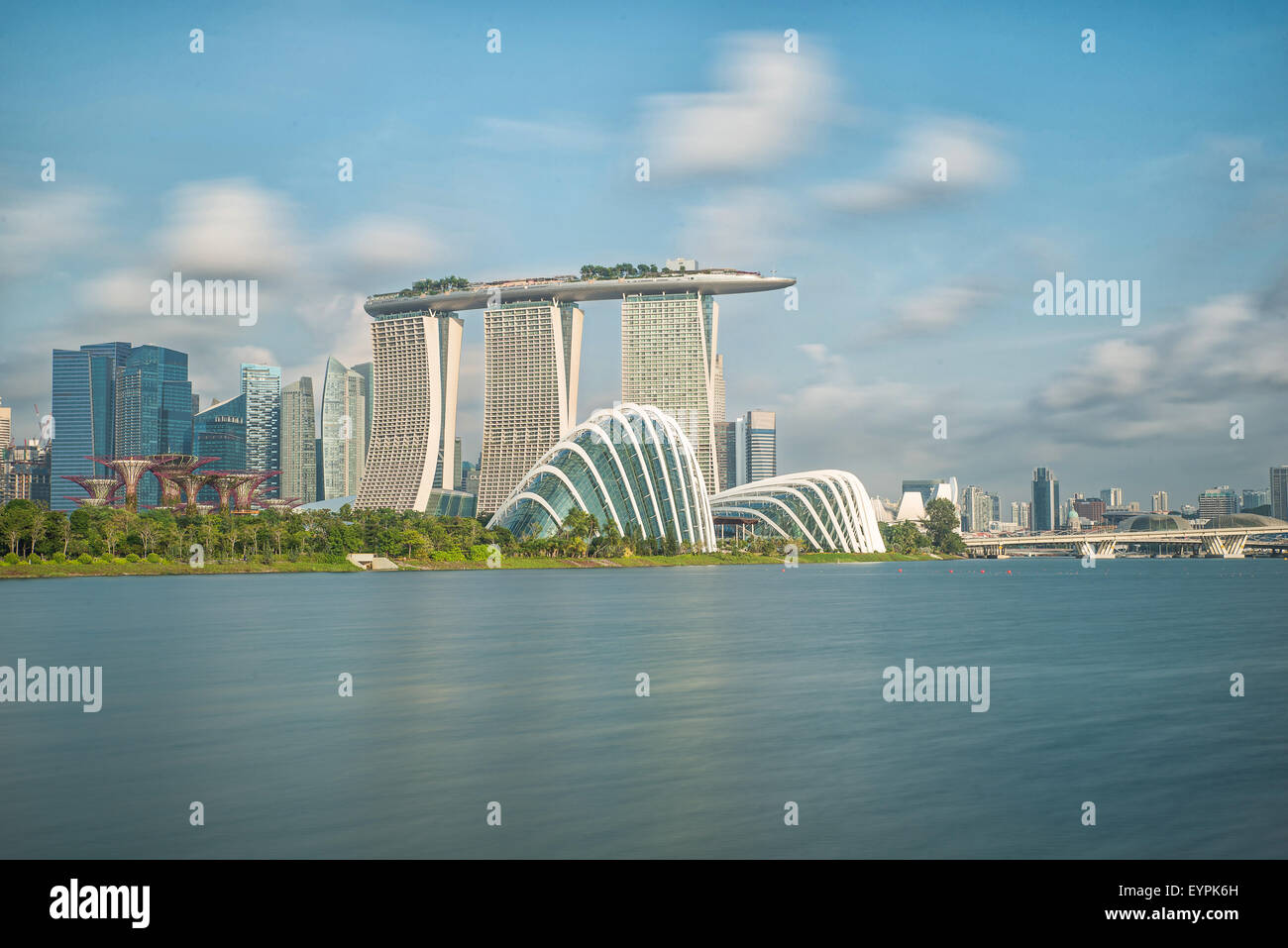 Singapore skyline in moring - Stock Image