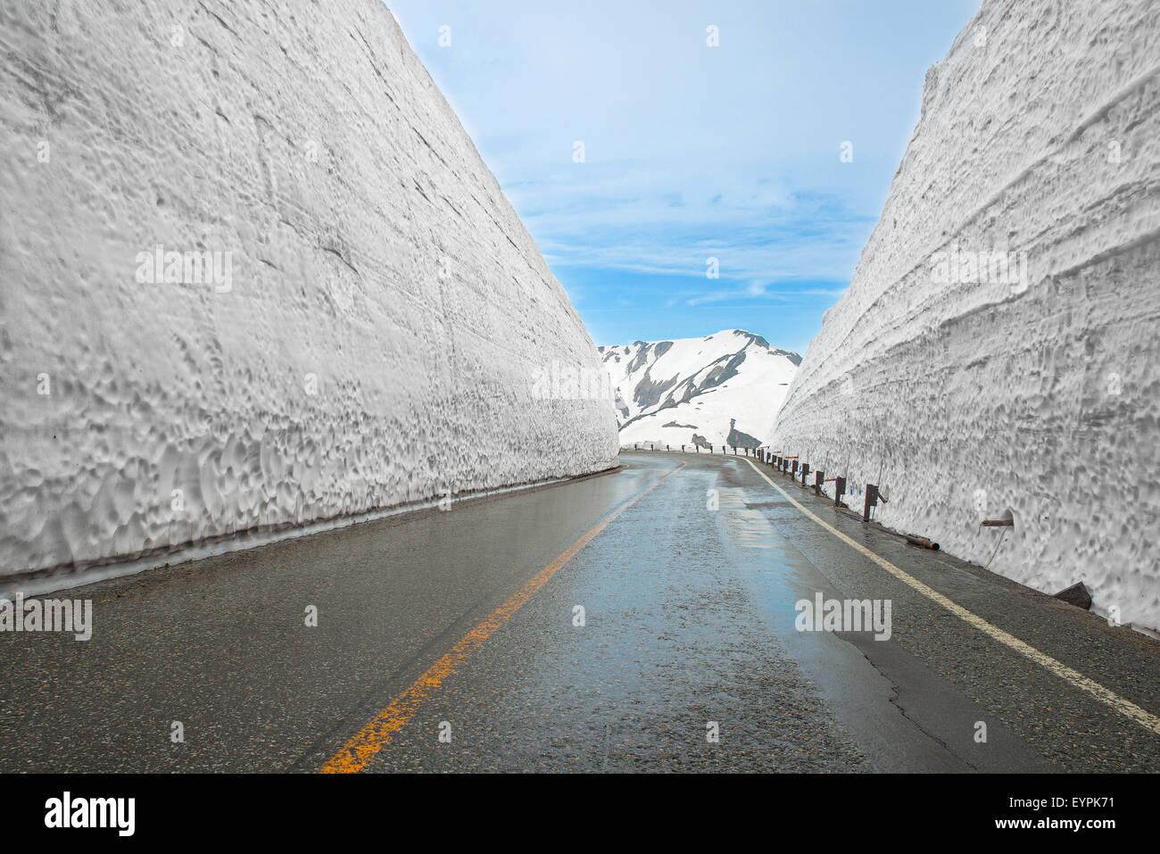 Tateyama Kurobe Alpine Route, Toyama Prefecture, Japan - Stock Image