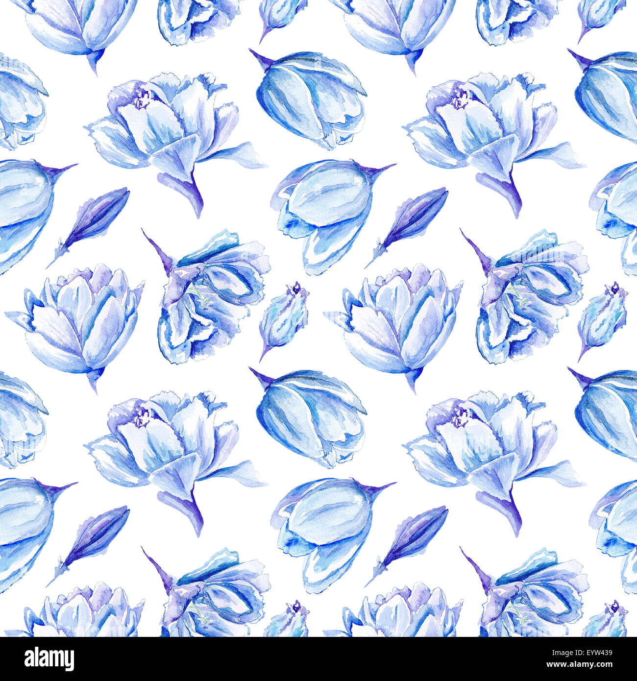 Seamless Passion Floral Background With Indigo Flowers For Bedroom Textile And Wallpaper Design Wedding Cards Invitations