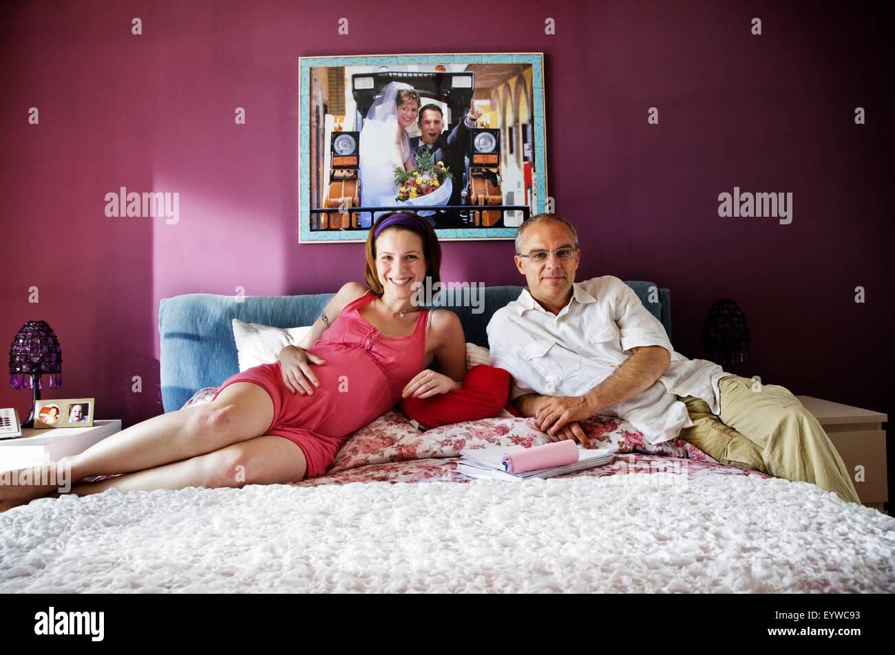La nostra vita ; Year : 2010 - Italy ; Director : Daniele Luchetti ; Isabella Ragonese, Daniele Luchetti ; Shooting - Stock Image