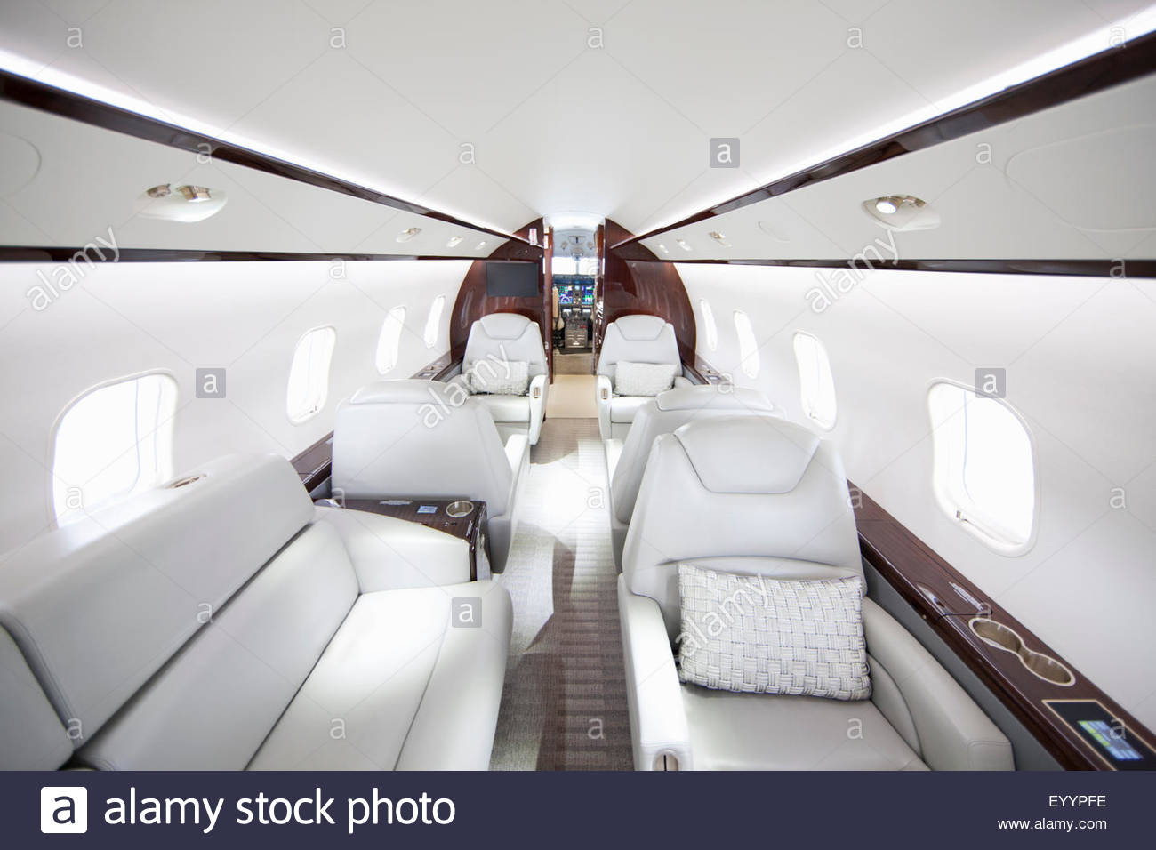 Interior of private jet - Stock Image