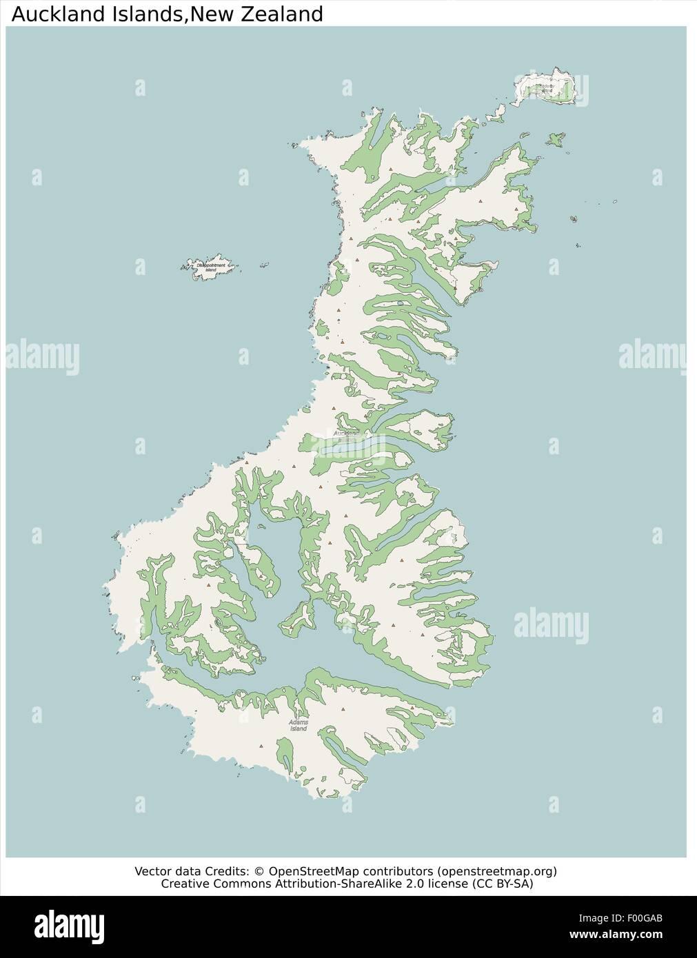 Auckland Islands New Zealand map Stock Vector Art & Illustration ...