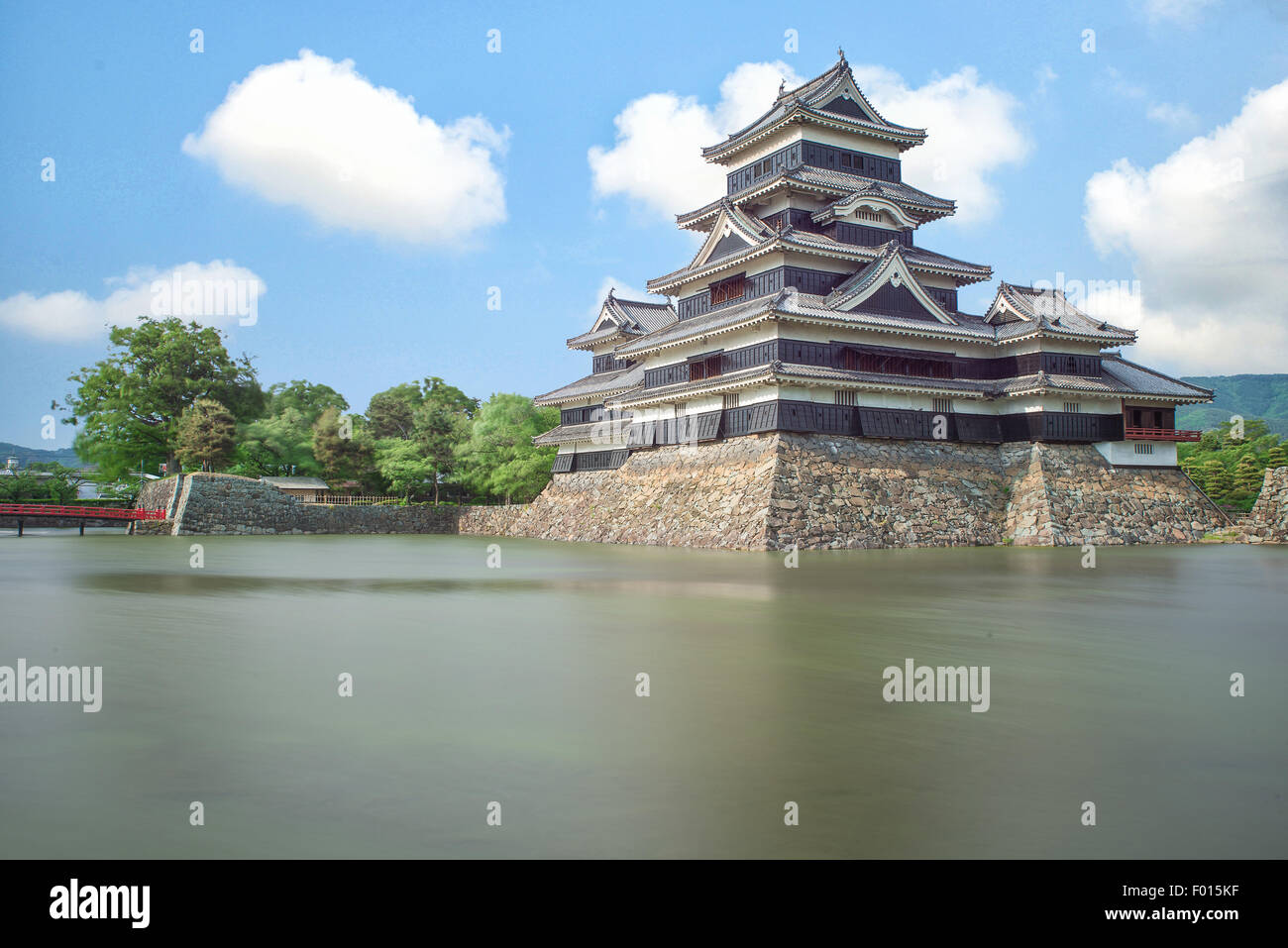 Matsumoto castle in Matsumoto city,Nagono, Japan - Stock Image