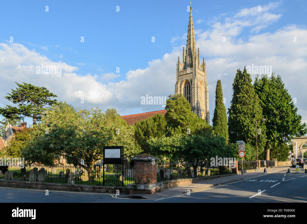 All Saints Church, Marlow,Buckinghamshire, England, UK. - Stock Image