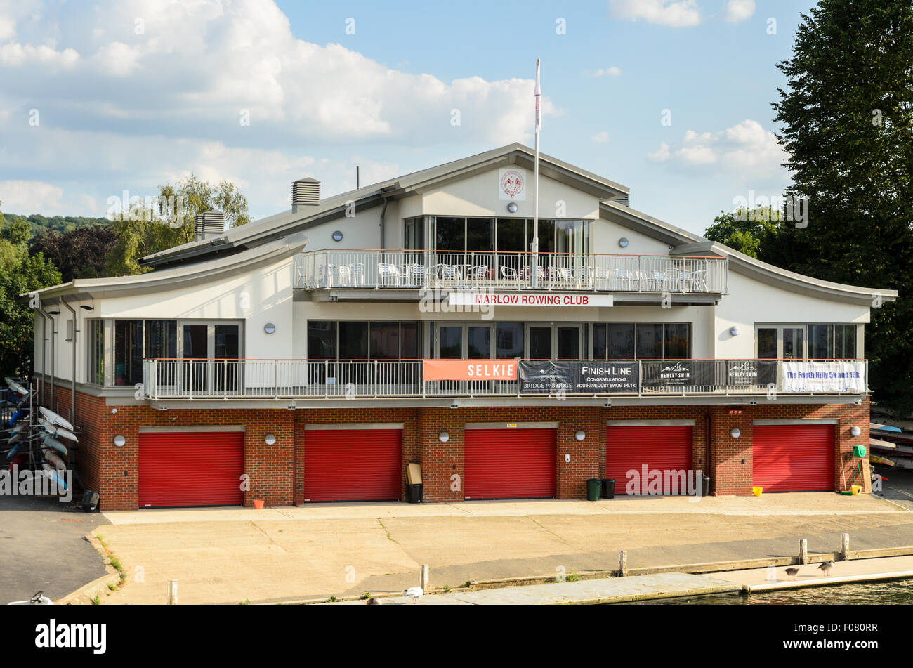 Marlow Rowing Club, Marlow, Buckinghamshire, England, UK. - Stock Image